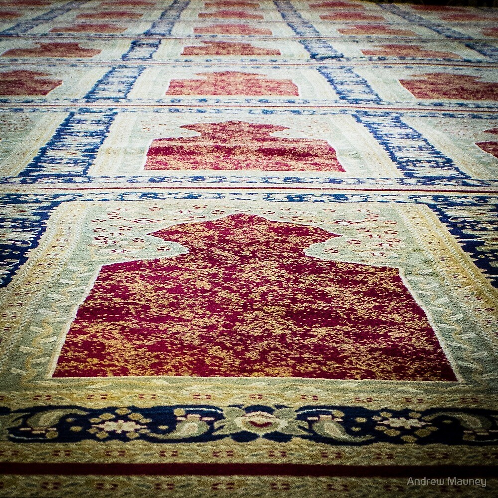 Rug from Israeli Mosque by Andrew Mauney