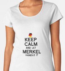 Keep Calm and Let Merkel handle it Women's Premium T-Shirt