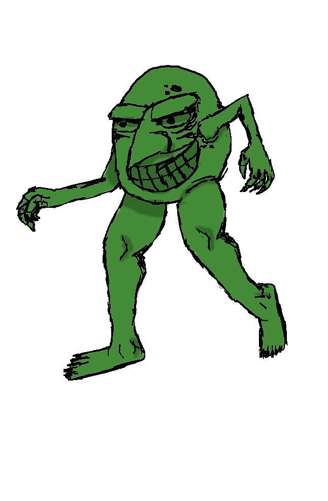 The feet muncher - Green by samtheart-man