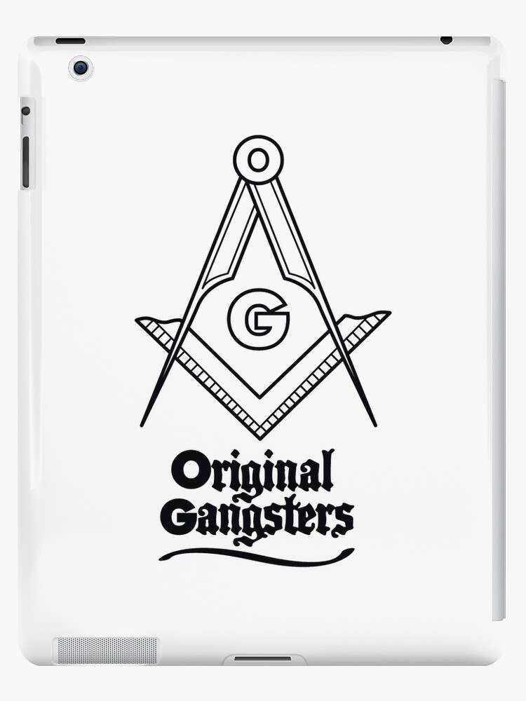 'OG - Original Gangsters - Masonic Square & Compass' iPad Case/Skin by  thedrumstick