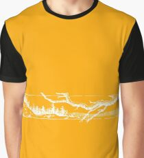 Landscape with Tree Branch Graphic T-Shirt
