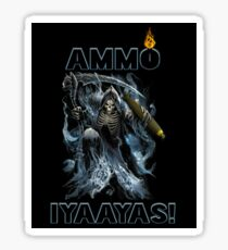 AMMO IYAAYAS Grim Reaper sickle and bomb looking down Sticker