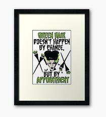 Hairdresser Colorist Humor Funny Wife of Frankenstein Framed Print