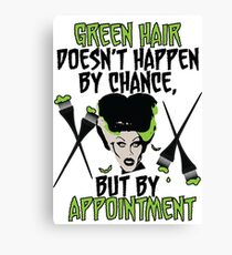 Hairdresser Colorist Humor Funny Wife of Frankenstein Canvas Print