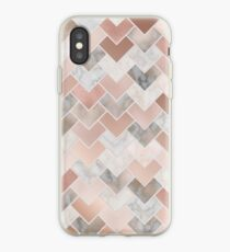 Rose Gold Marble Geometric iPhone Case