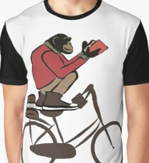 Chimp on Bycicle Graphic T-Shirt