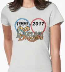 Dueling Dragons: 1999-2017 Women's Fitted T-Shirt