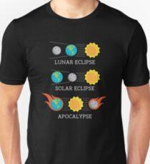 Sonnenfinsternis Mondfinsternis Apokalypse Lustiger Witz Slim Fit T-Shirt