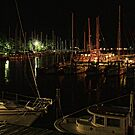 Evening at the marinas in Oriental, NC by Timothy Gass