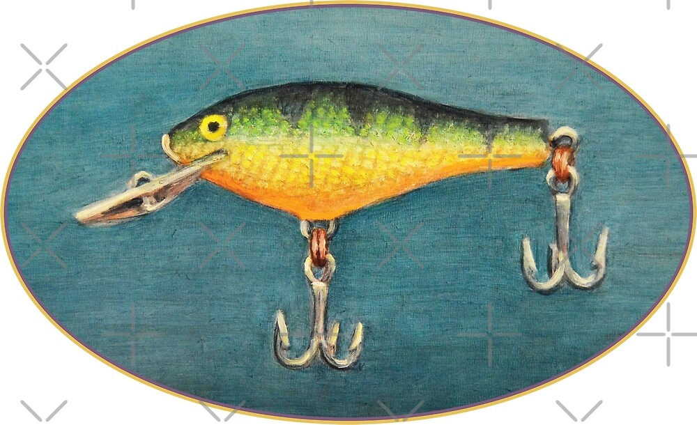 Perch Fishing Lure by Kenneth Cobb
