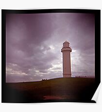 big lighthouse on the hill Poster