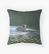 Great Crested Grebe, podiceps cristatus Throw Pillow
