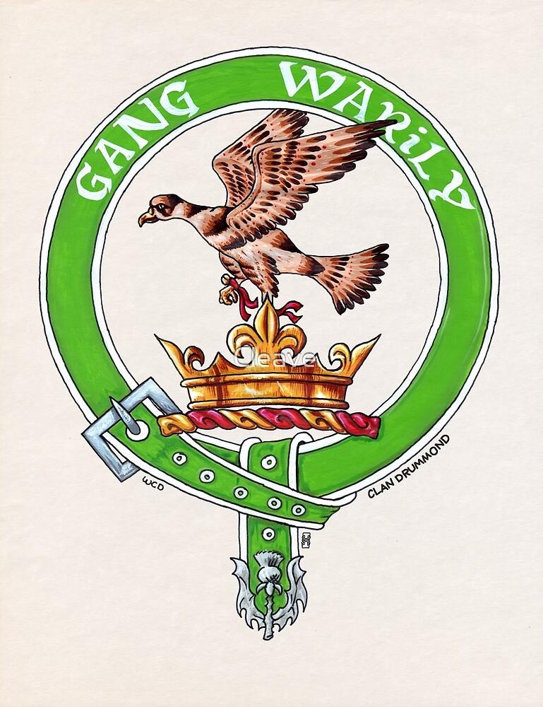 Clan Drummond Scottish Crest by Cleave