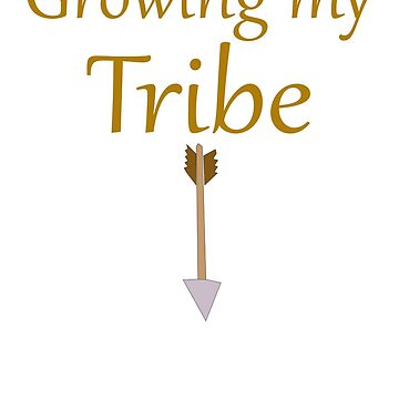 Growing my TRIBE Maternity Tshirt | Pregnancy Graphic Tee by MommiesByDesign