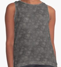 floral abstract in gray tones Contrast Tank