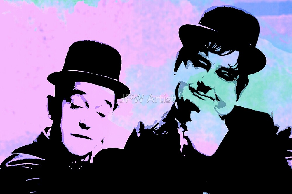Laurel and Hardy by JPW Artist