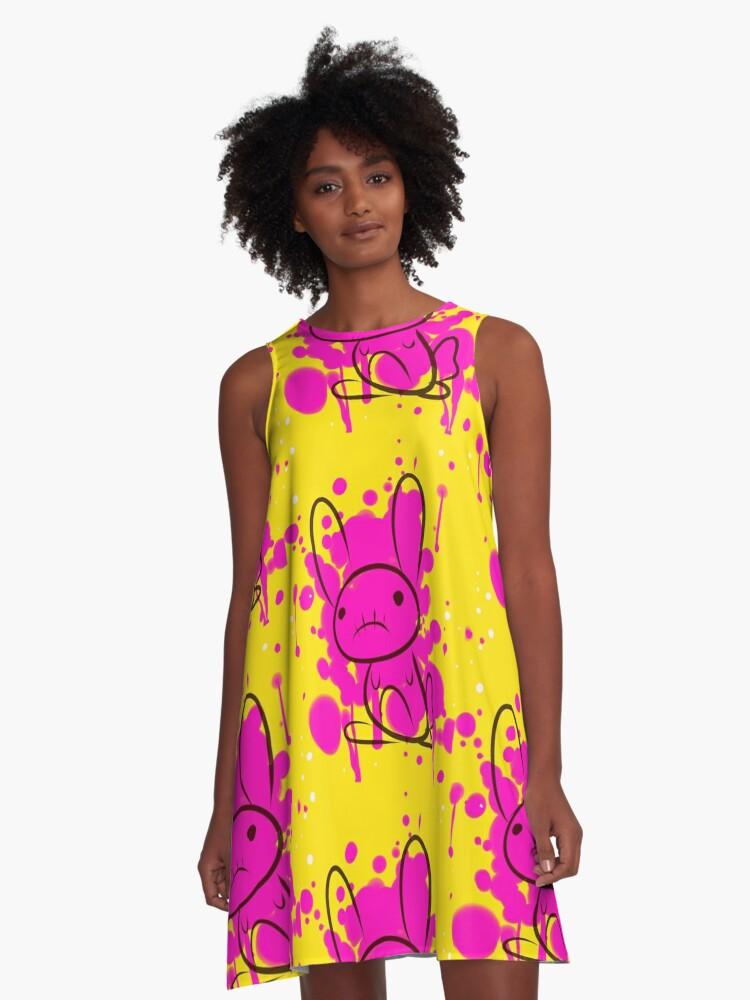 bunny splatter A-Line Dress Front