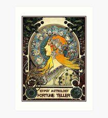 GYPSY ASTROLOGY;Vintage Fortune Teller Print Art Print