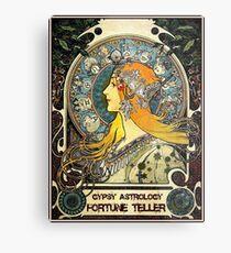 GYPSY ASTROLOGY;Vintage Fortune Teller Print Metal Print