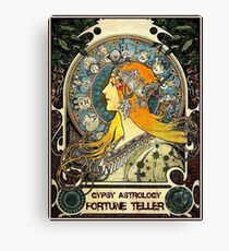 GYPSY ASTROLOGY;Vintage Fortune Teller Print Canvas Print