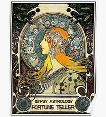 GYPSY ASTROLOGY; Vintage Wahrsagerin-Print Poster