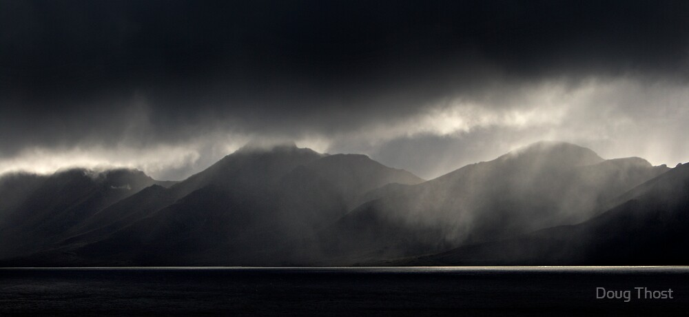 Storm over Lake Pedder by Doug Thost