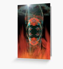 Ghost of fire Greeting Card