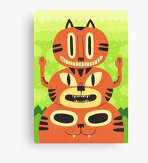 Totem Cat Canvas Print