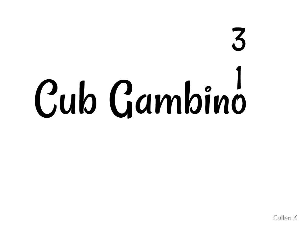 CubGambino 310 Merch Line by Cullen K