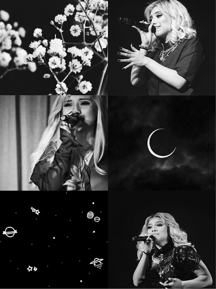 Kirstin Black & White Aesthetic  by KatieDesneiges