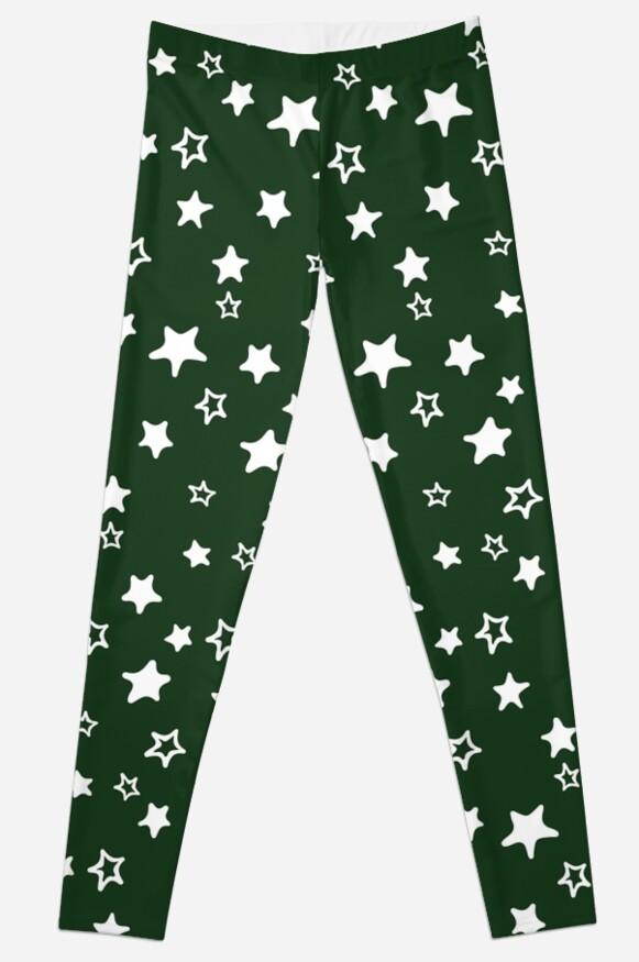 Dark Green Starry by emmybdesigns