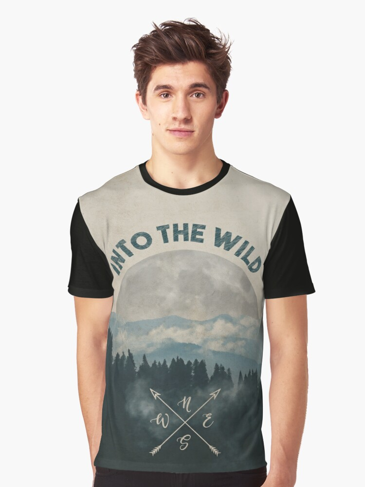 Into the Wild - Forest Art Graphic T-Shirt Front