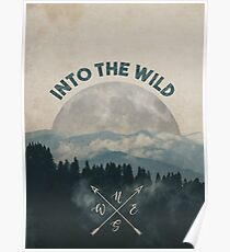 Into the Wild - Forest Art Poster