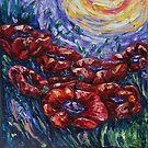 Impressionistische Feld-Mohnblumen von OLena  Art ❣️