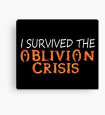 I Survived The Oblivion Crisis Canvas Print