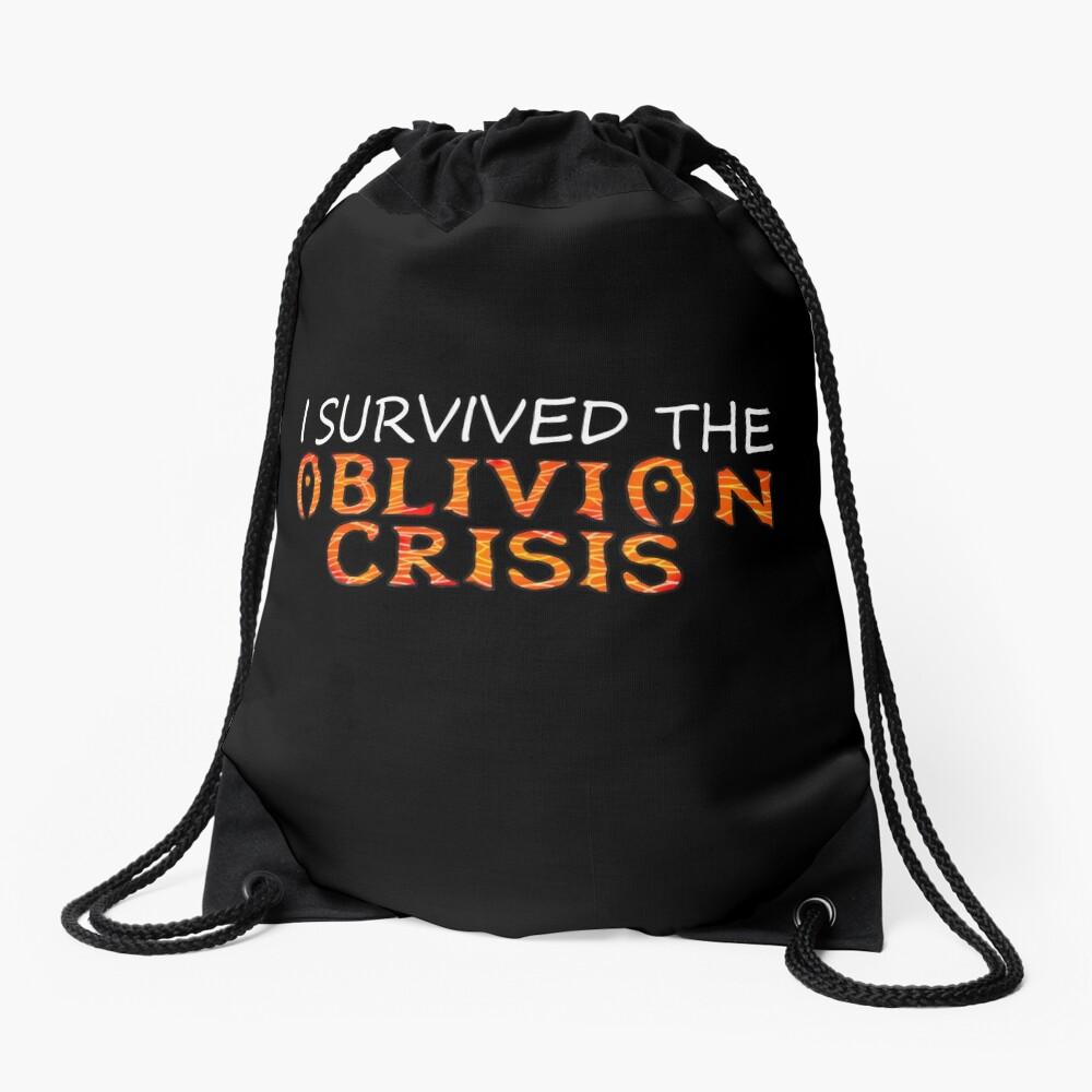 I Survived The Oblivion Crisis Drawstring Bag Front
