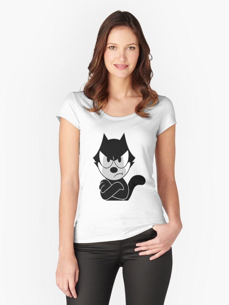 cat f Women's Fitted Scoop T-Shirt Front