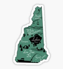 New Hampshire state- Map Sticker