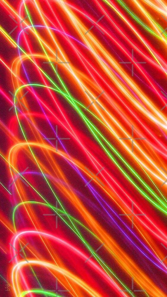 Psychedelic Neon Light Swirls by nicoletteabides