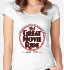 The Great Movie Ride 1989-2017 Women's Fitted Scoop T-Shirt