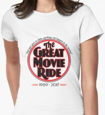 The Great Movie Ride 1989-2017 Women's Fitted T-Shirt