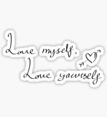 LMLY - BTS RapMon Quote Sticker