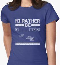 I'd Rather Be F___ing Shirt Funny Fishing Apparel T-Shirt