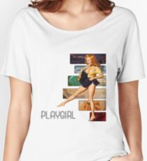 playgirl pin up p.9 (semi closet safe) Women's Relaxed Fit T-Shirt