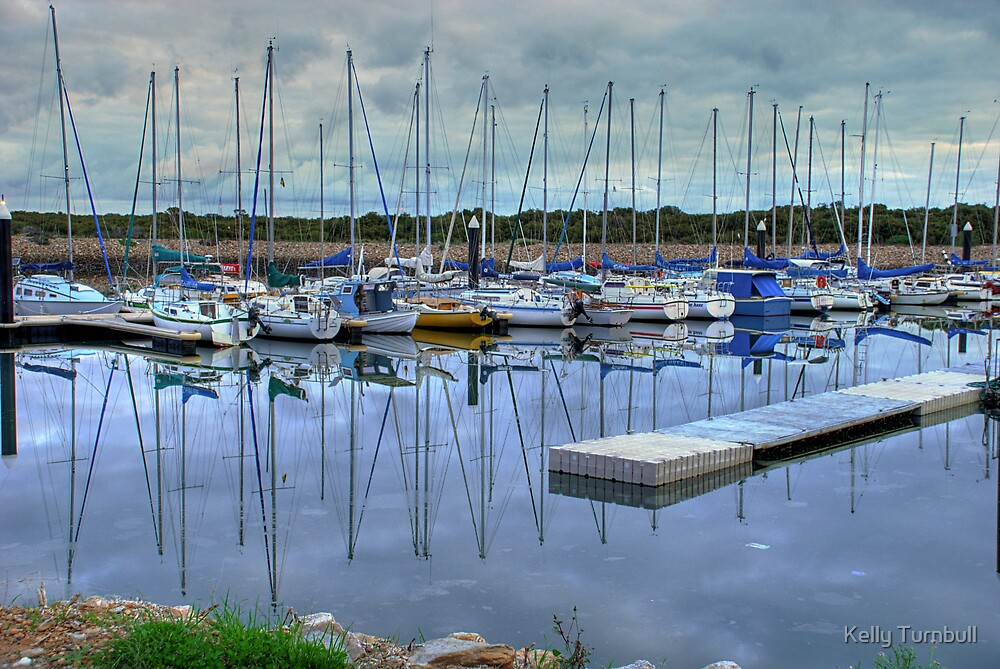 Boat Reflections by Kelly Turnbull