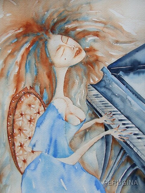 lady at her piano  © patricia vannucci 2008 by PERUGINA