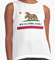 New California Republic Flag Contrast Tank