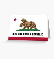 New California Republic Flag Greeting Card
