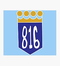 816 Area Code Kansas City Royals Photographic Print