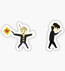 Sherlawk and Jawn clueing for looks Sticker
